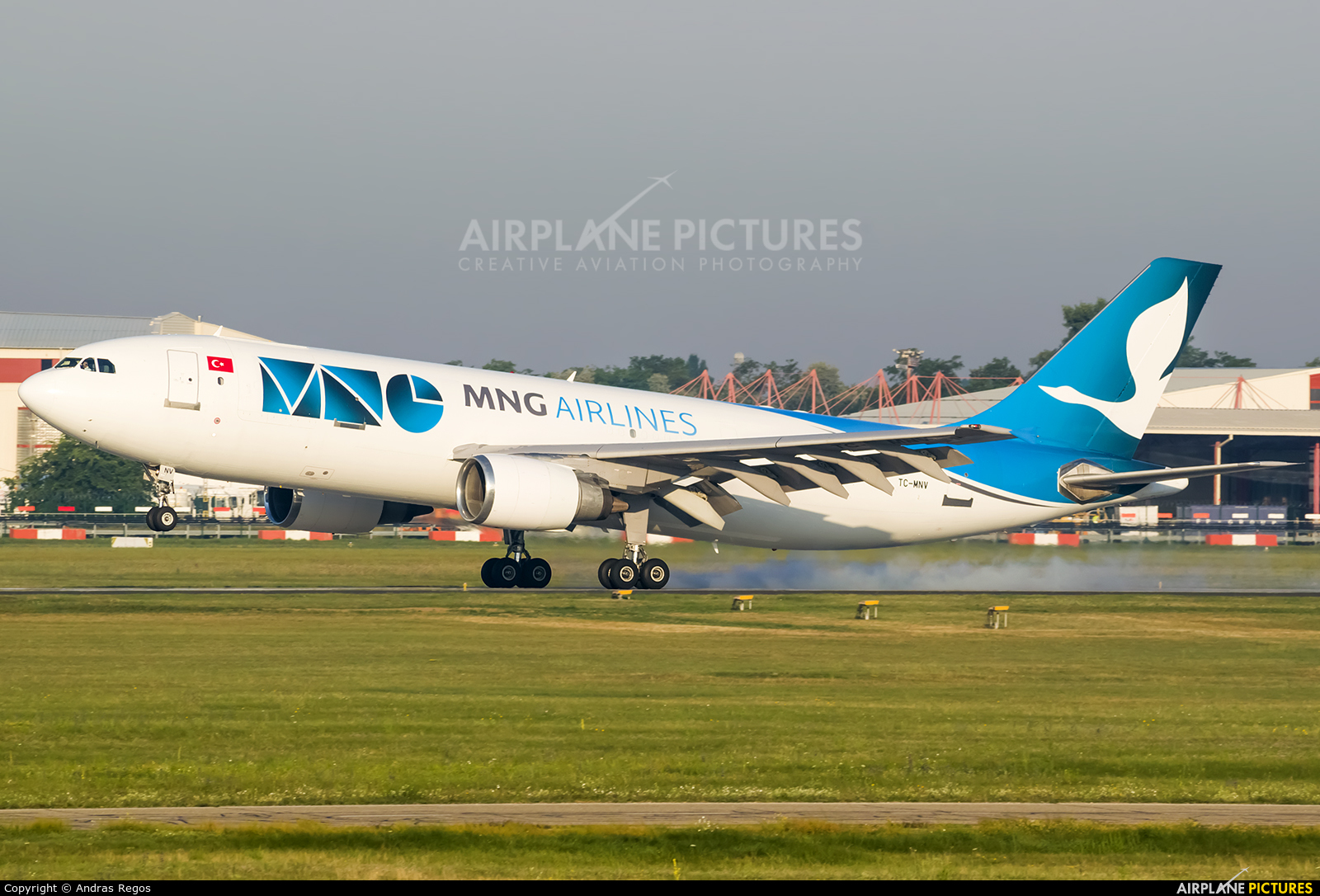 MNG Cargo TC-MNV aircraft at Budapest Ferenc Liszt International Airport