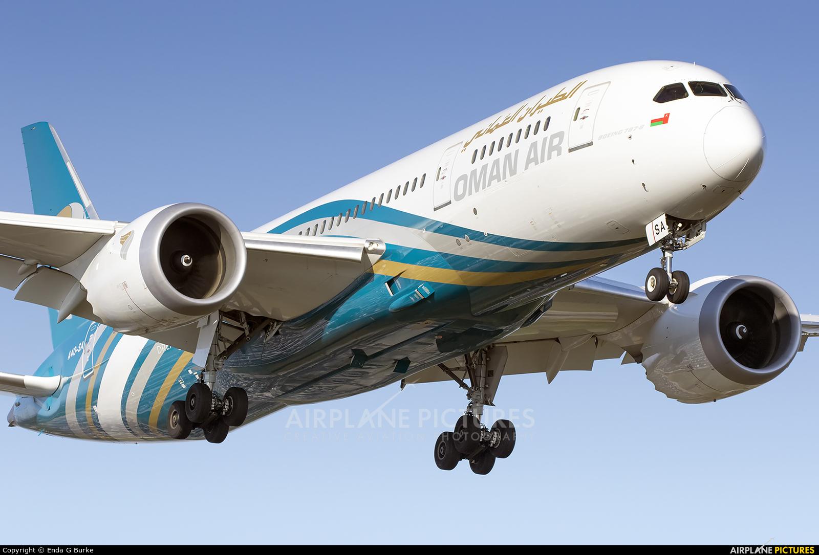 Oman Air A4O-SA aircraft at Manchester