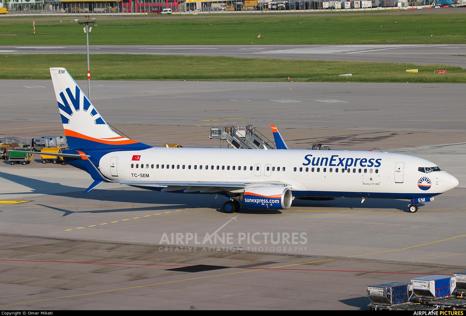 SunExpress TC-SEM aircraft at Stuttgart
