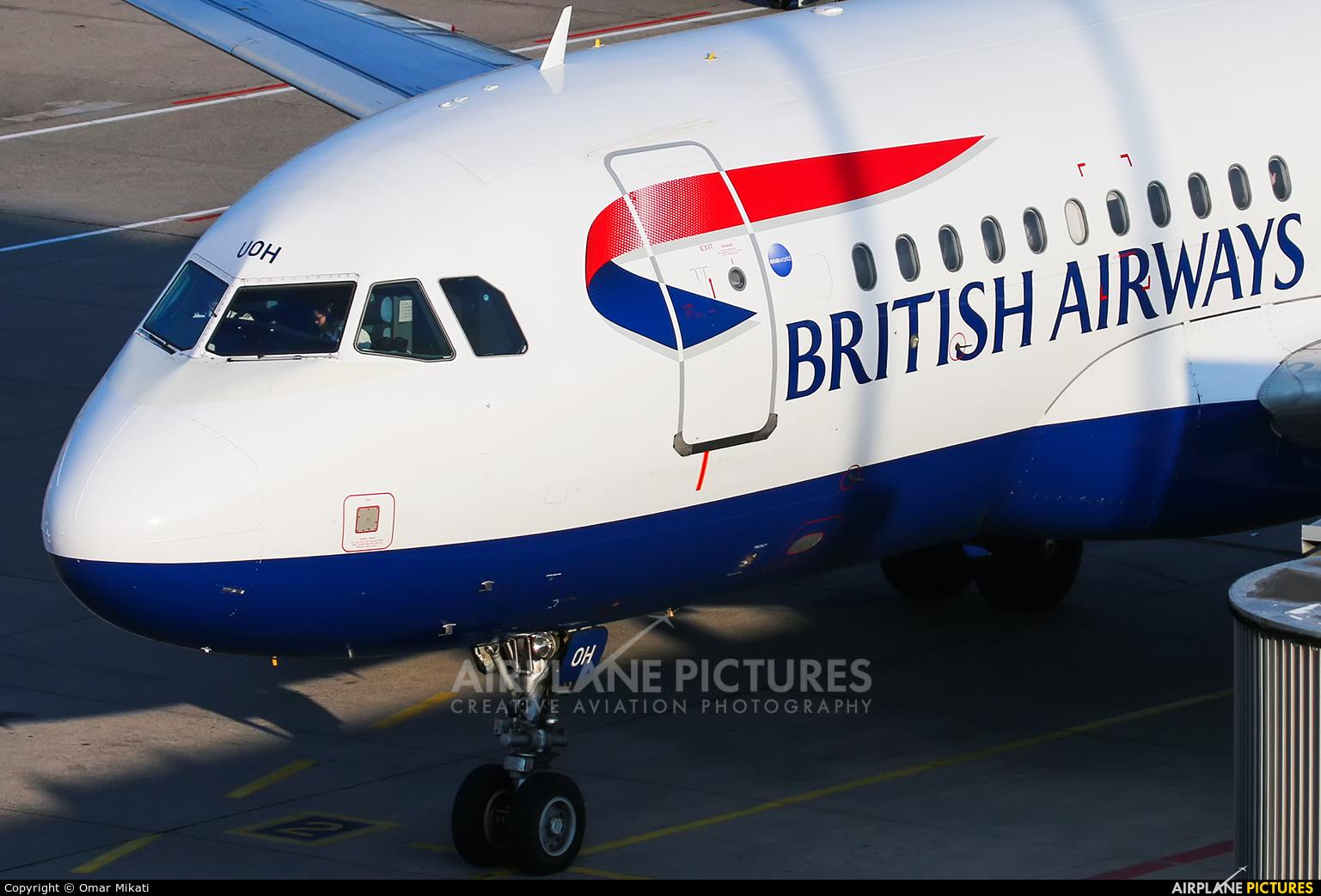 British Airways G-EUOH aircraft at Stuttgart