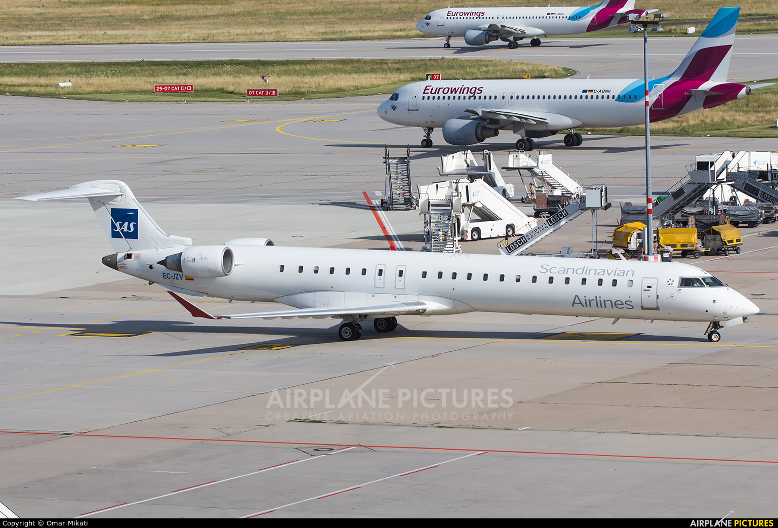 SAS - Scandinavian Airlines EC-JZV aircraft at Stuttgart