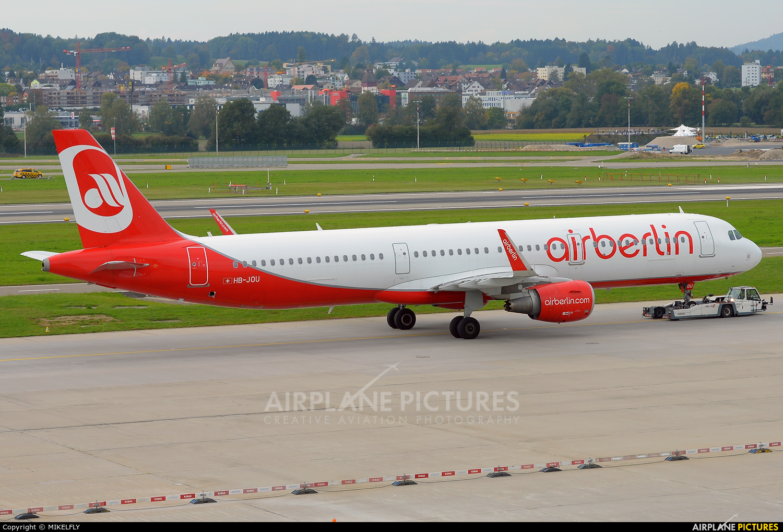 Air Berlin - Belair HB-JOU aircraft at Zurich
