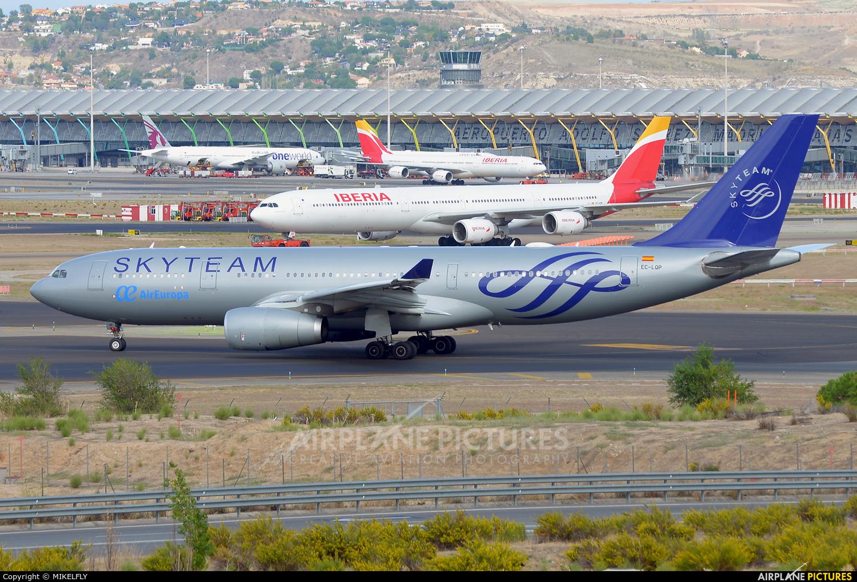 Air Europa EC-LQP aircraft at Madrid - Barajas