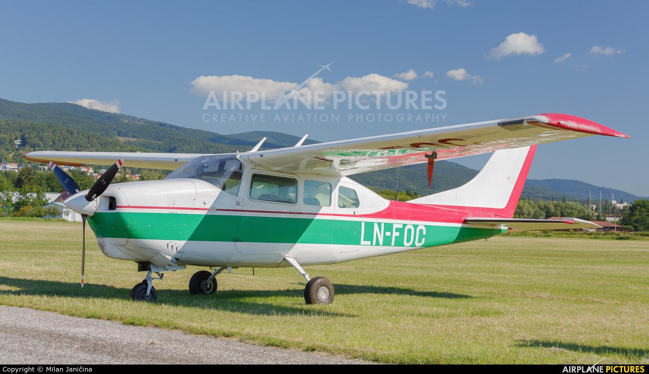 Private LN-FOC aircraft at Prievidza