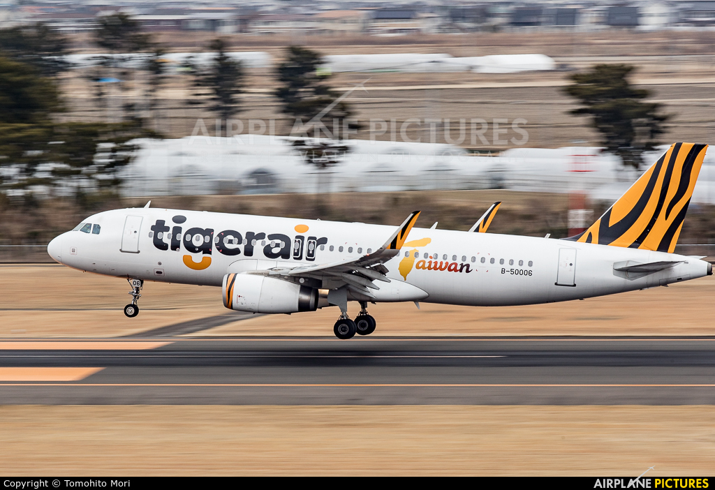 Tigerair Taiwan B-50006 aircraft at Sendai