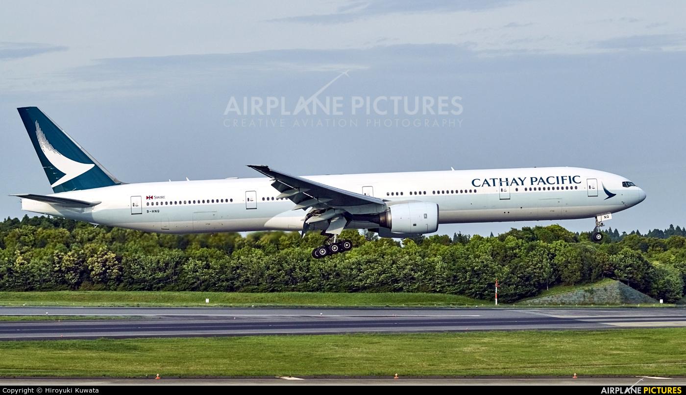 Cathay Pacific B-HNQ aircraft at Tokyo - Narita Intl