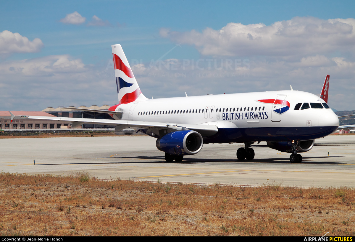 British Airways G-MIDX aircraft at Málaga