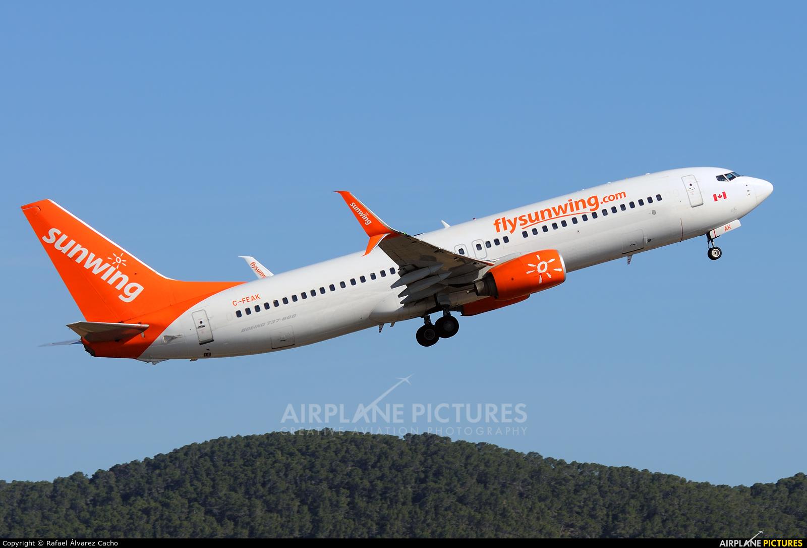 Sunwing Airlines C-FEAK aircraft at Ibiza