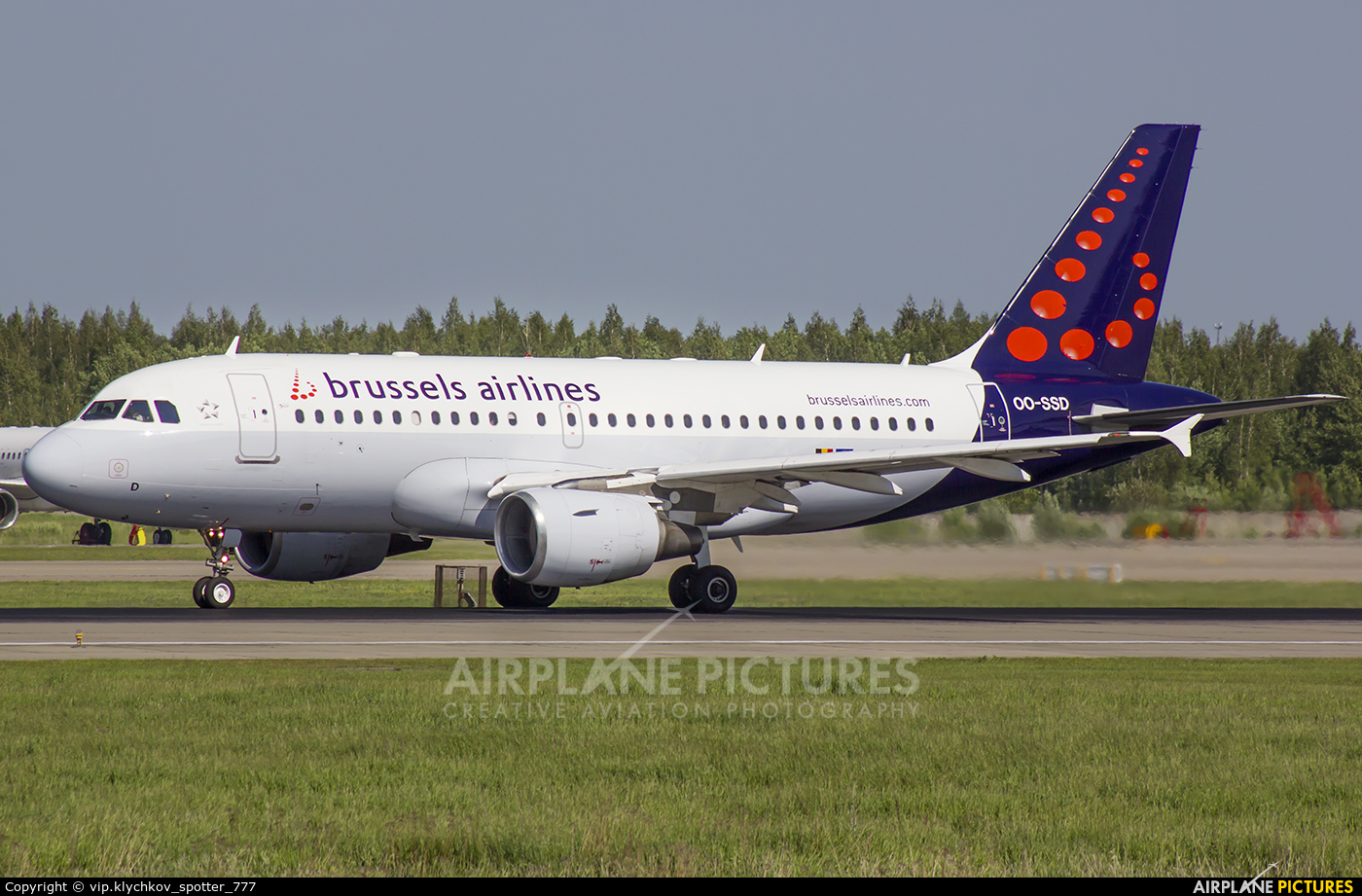 Brussels Airlines OO-SSD aircraft at Moscow - Domodedovo