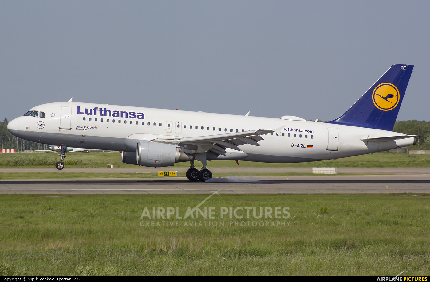 Lufthansa D-AIZE aircraft at Moscow - Domodedovo