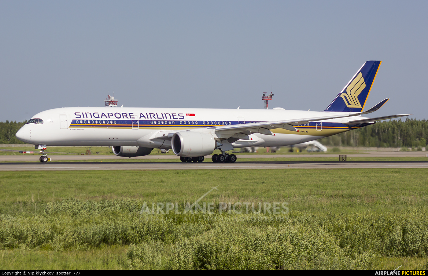Singapore Airlines 9V-SMC aircraft at Moscow - Domodedovo