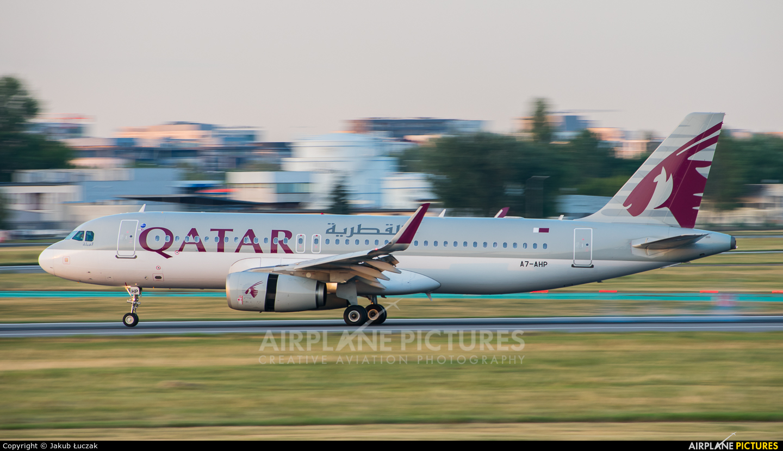 Qatar Airways A7-AHP aircraft at Warsaw - Frederic Chopin