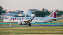 A7-AHP - Qatar Airways Airbus A320 aircraft
