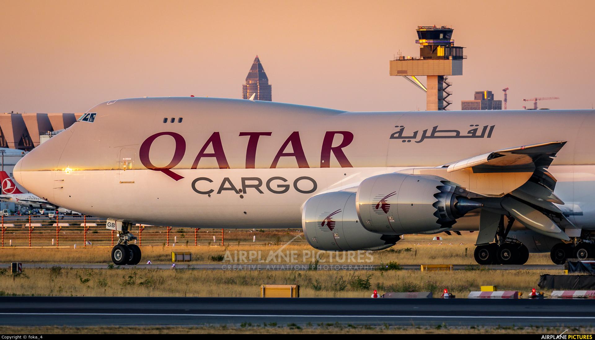 Qatar Airways Cargo A7-BGB aircraft at Frankfurt