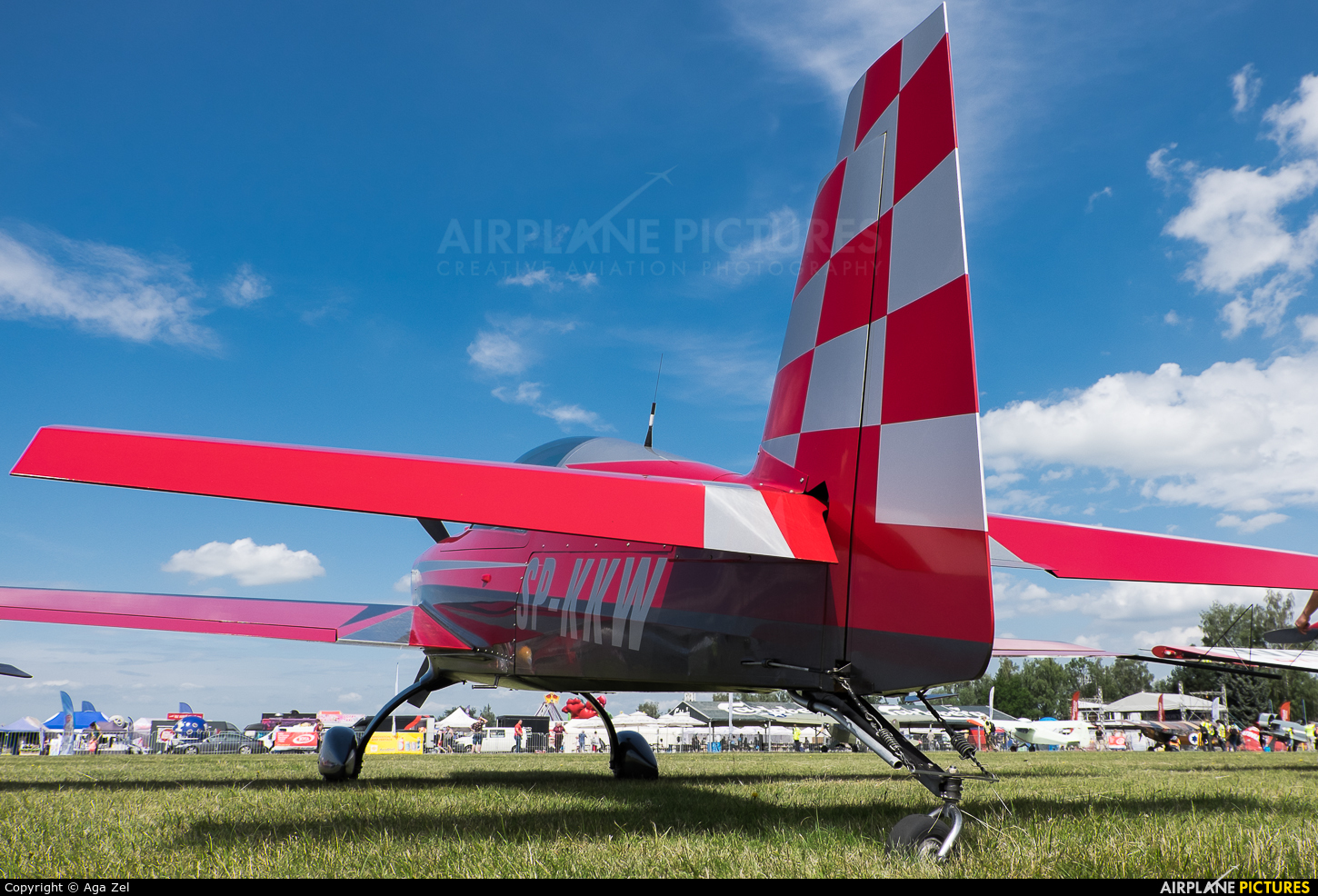 Private SP-KKW aircraft at Nowy Targ