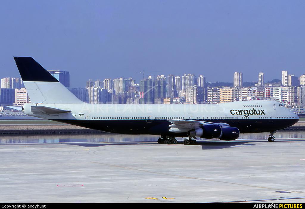 Cargolux LX-ZCV aircraft at HKG - Kai Tak Intl CLOSED