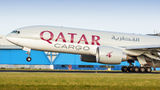 Qatar Airways Cargo Boeing 777F A7-BFC at Amsterdam - Schiphol airport
