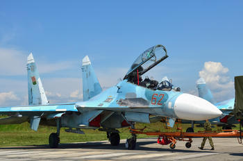 62 RED - Belarus - Air Force Sukhoi Su-27UBM