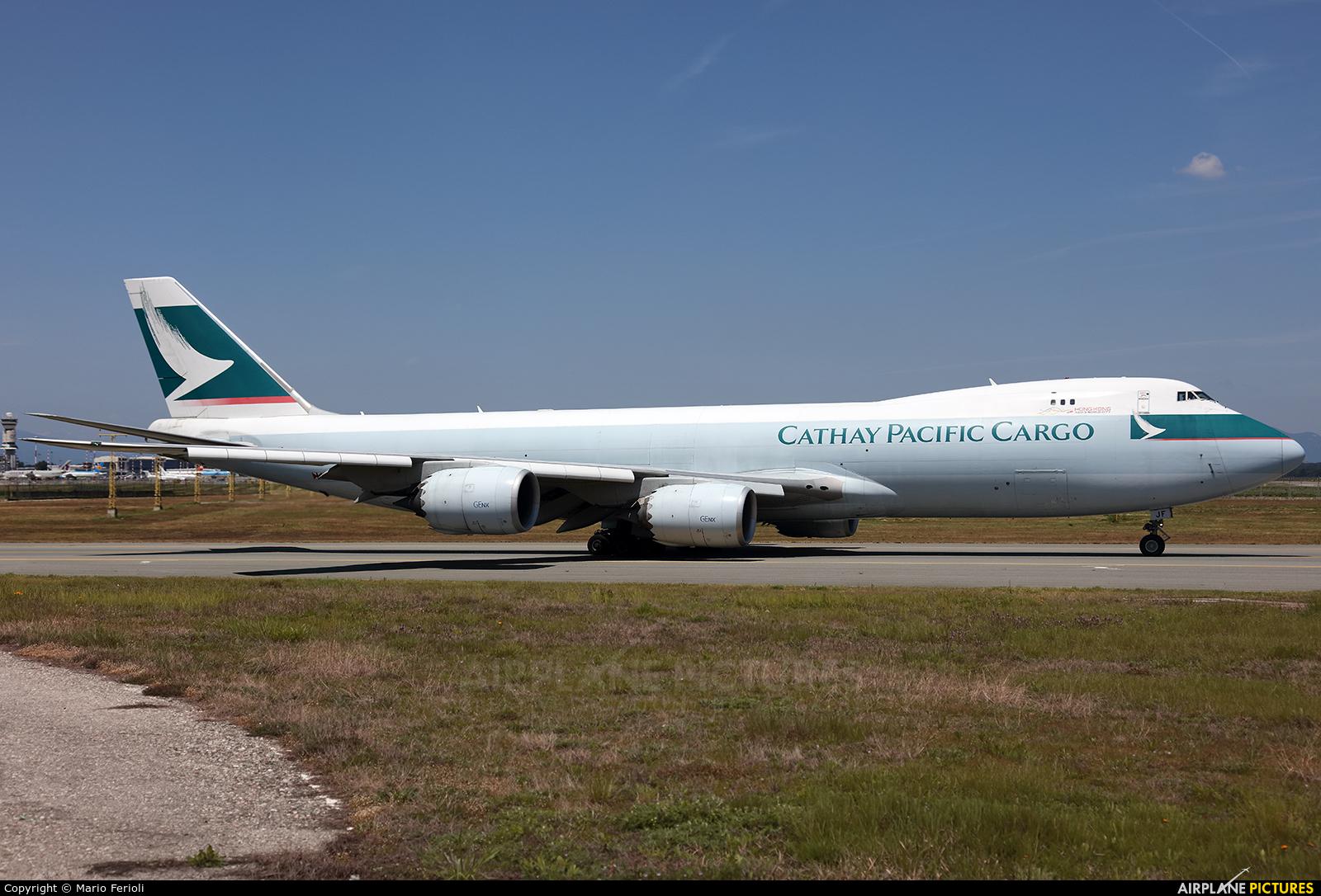 Cathay Pacific Cargo B-LJF aircraft at Milan - Malpensa