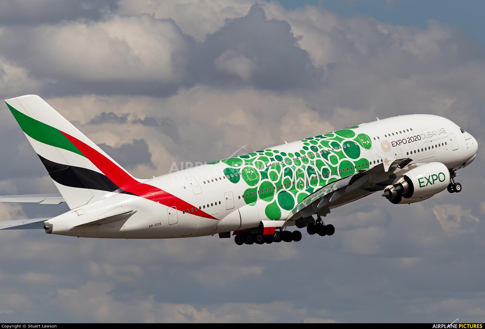 Emirates Airlines A6-EOK aircraft at Birmingham