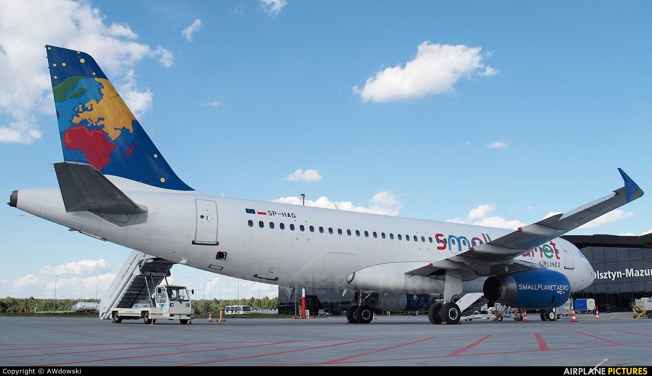 Small Planet Airlines SP-HAG aircraft at Olsztyn Mazury Airport (Szymany)