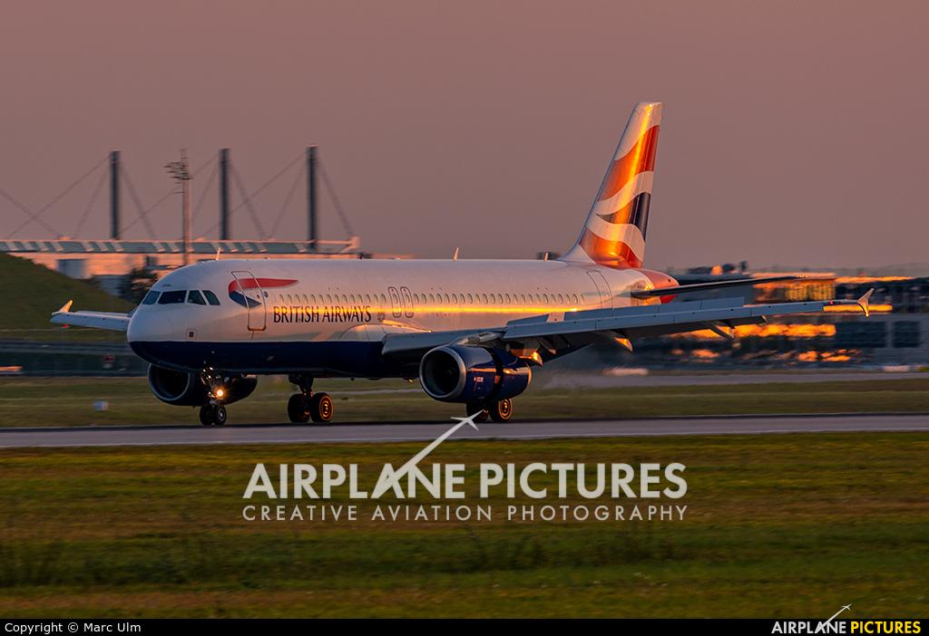 British Airways G-EUUP aircraft at Munich