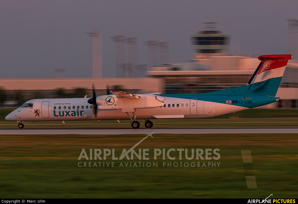 Luxair LX-LQD aircraft at Munich