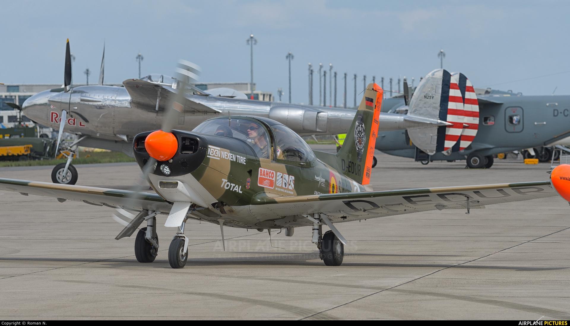 Senheiser Aviation Headsets D-EDUR aircraft at Berlin - Schönefeld