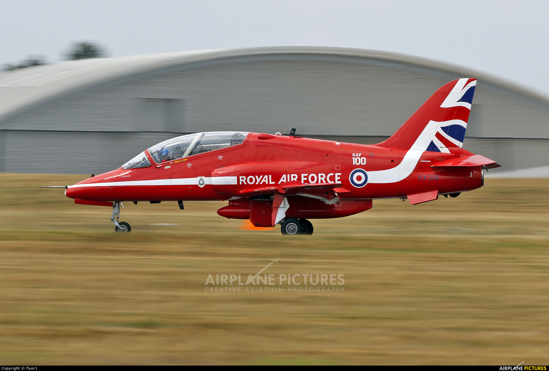 "Royal Air Force ""Red Arrows"" XX319 aircraft at Farnborough"