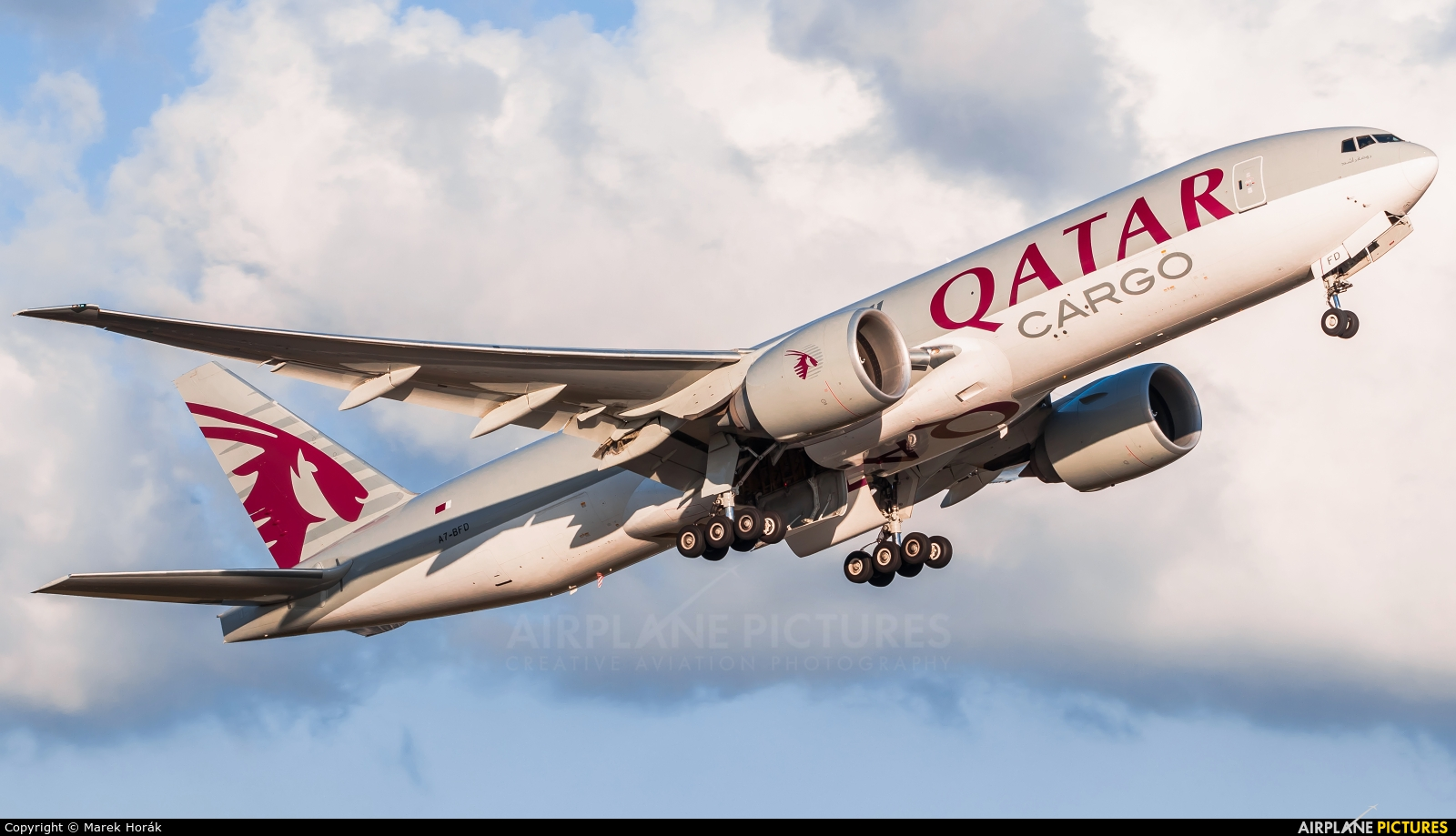 Qatar Airways Cargo A7-BFD aircraft at Amsterdam - Schiphol
