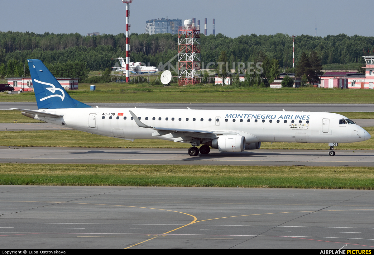 Montenegro Airlines 40-AOB aircraft at St. Petersburg - Pulkovo