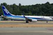 New ANA's Boeing 737's first flight title=