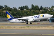 Delivery flight of new Boeing 737-800 for Skymark title=