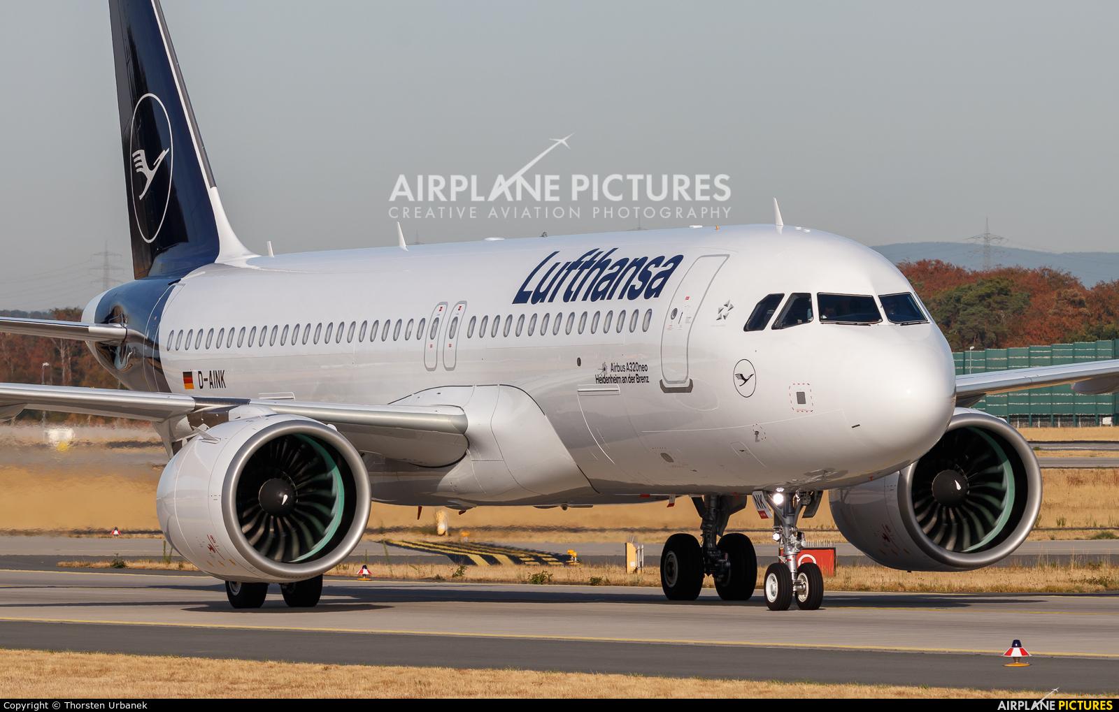 Lufthansa D-AINK aircraft at Frankfurt