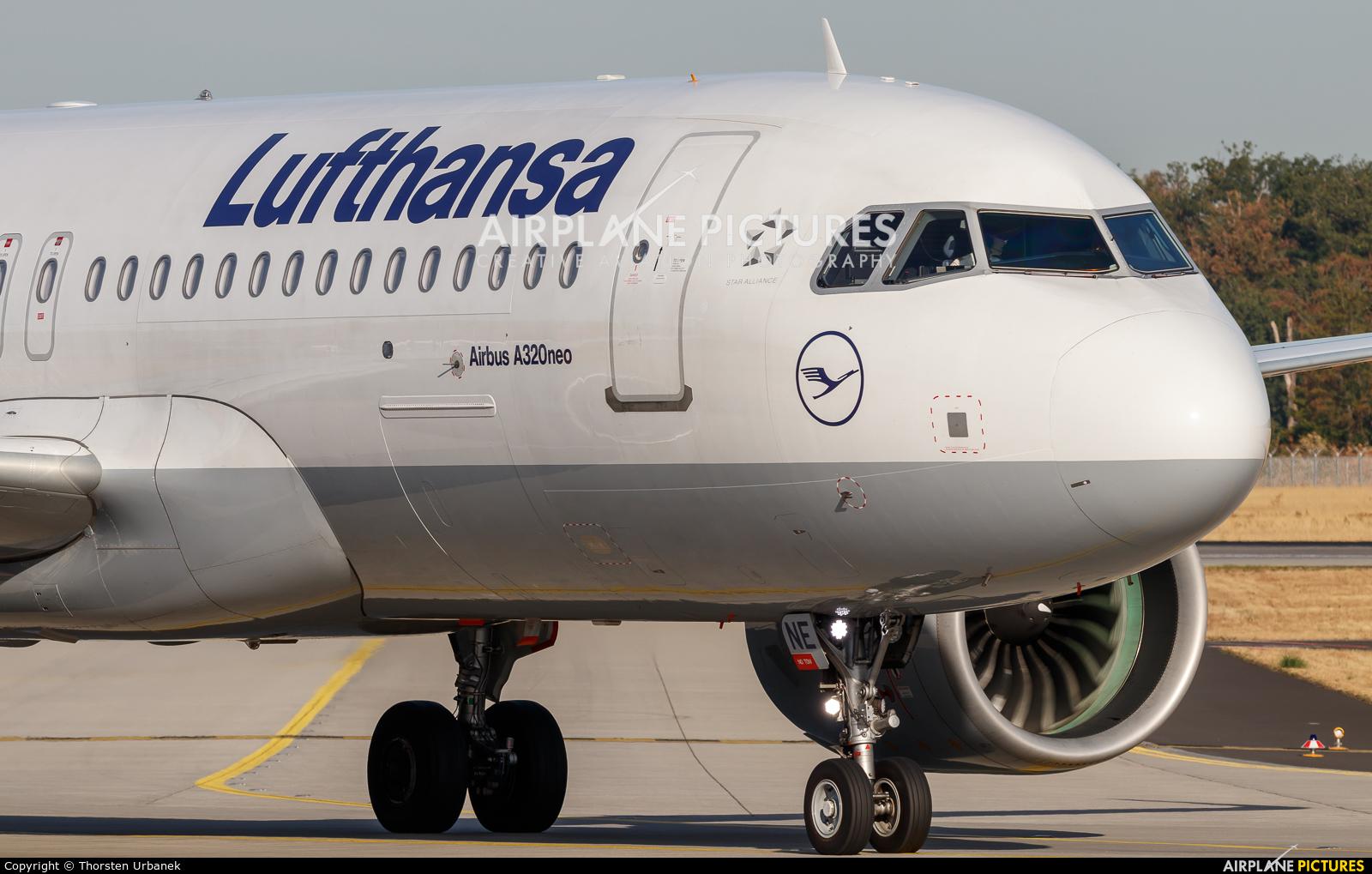 Lufthansa D-AINE aircraft at Frankfurt