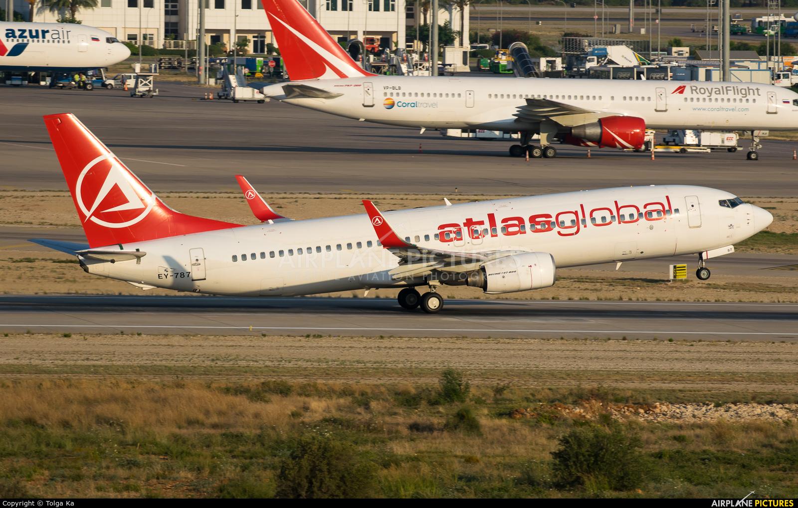 Atlasglobal EY-787 aircraft at Antalya