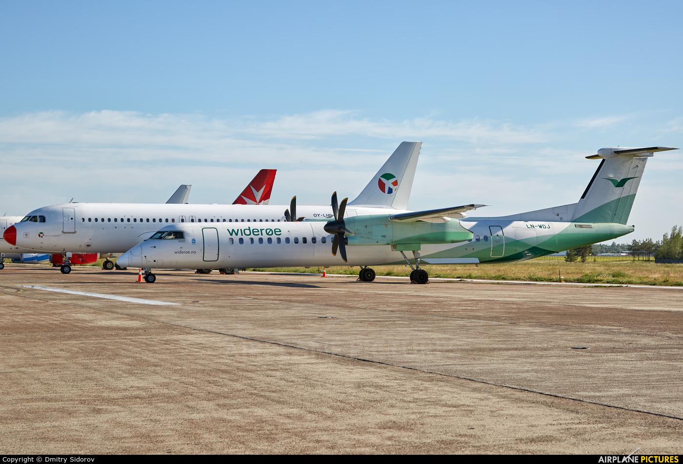 Widerøe LN-WDJ aircraft at Kyiv - Borispol