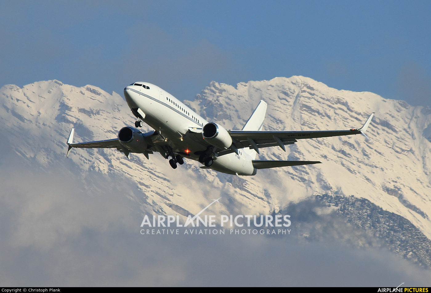 Private VP-BWR aircraft at Innsbruck