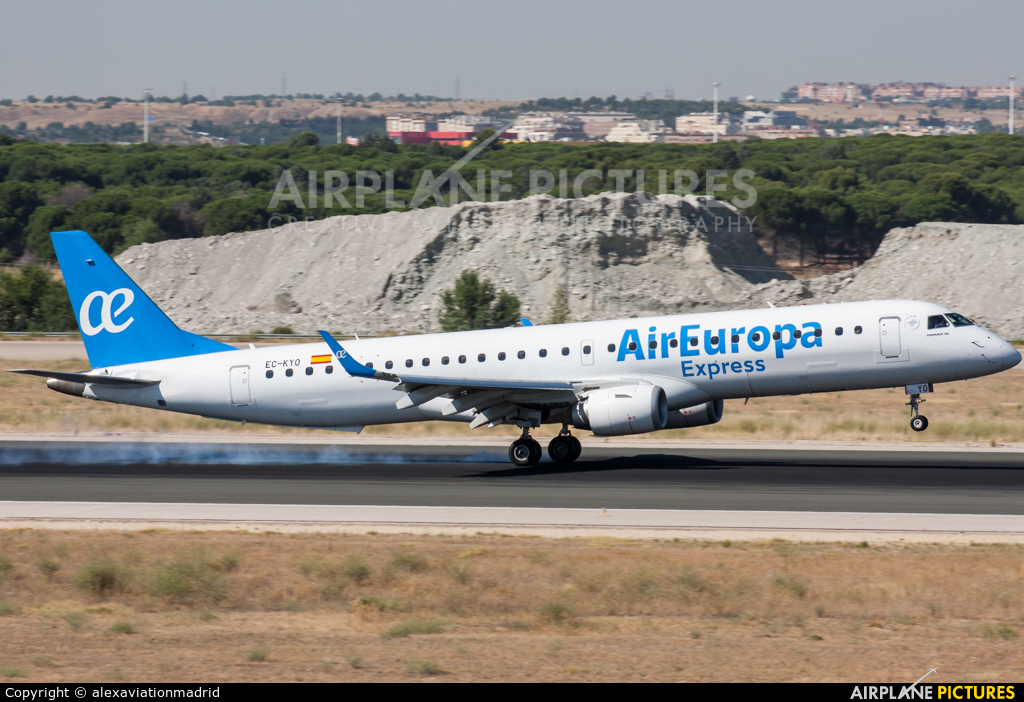 Air Europa Express EC-KYO aircraft at Madrid - Barajas