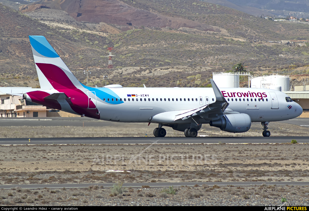 Eurowings D-AEWV aircraft at Tenerife Sur - Reina Sofia