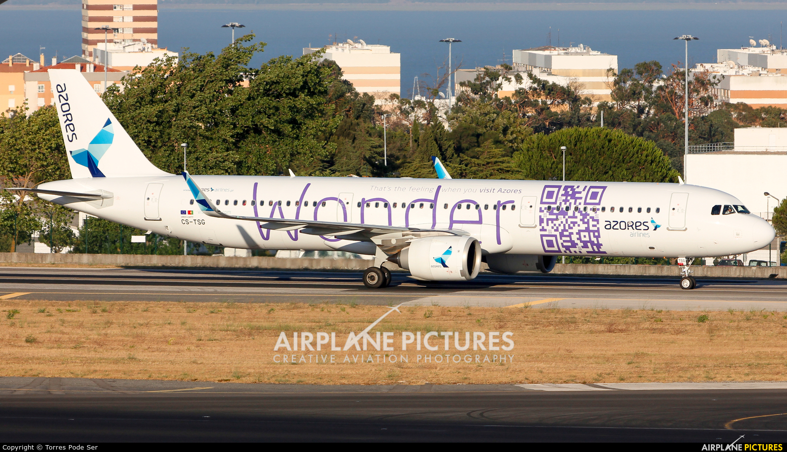 Azores Airlines CS-TSG aircraft at Lisbon