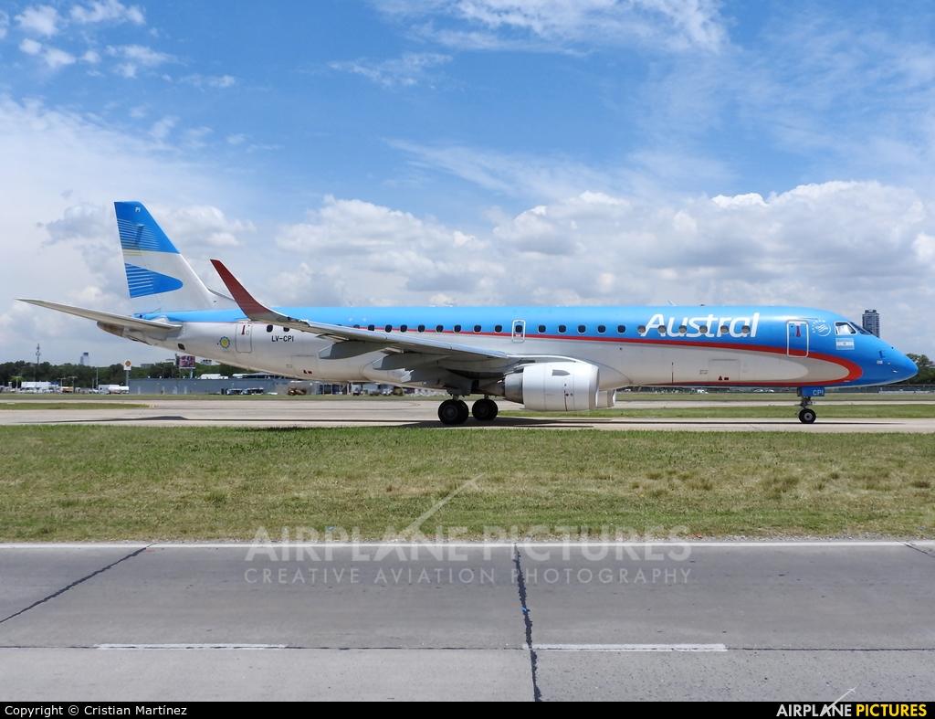 Austral Lineas Aereas LV-CPI aircraft at Buenos Aires - Jorge Newbery