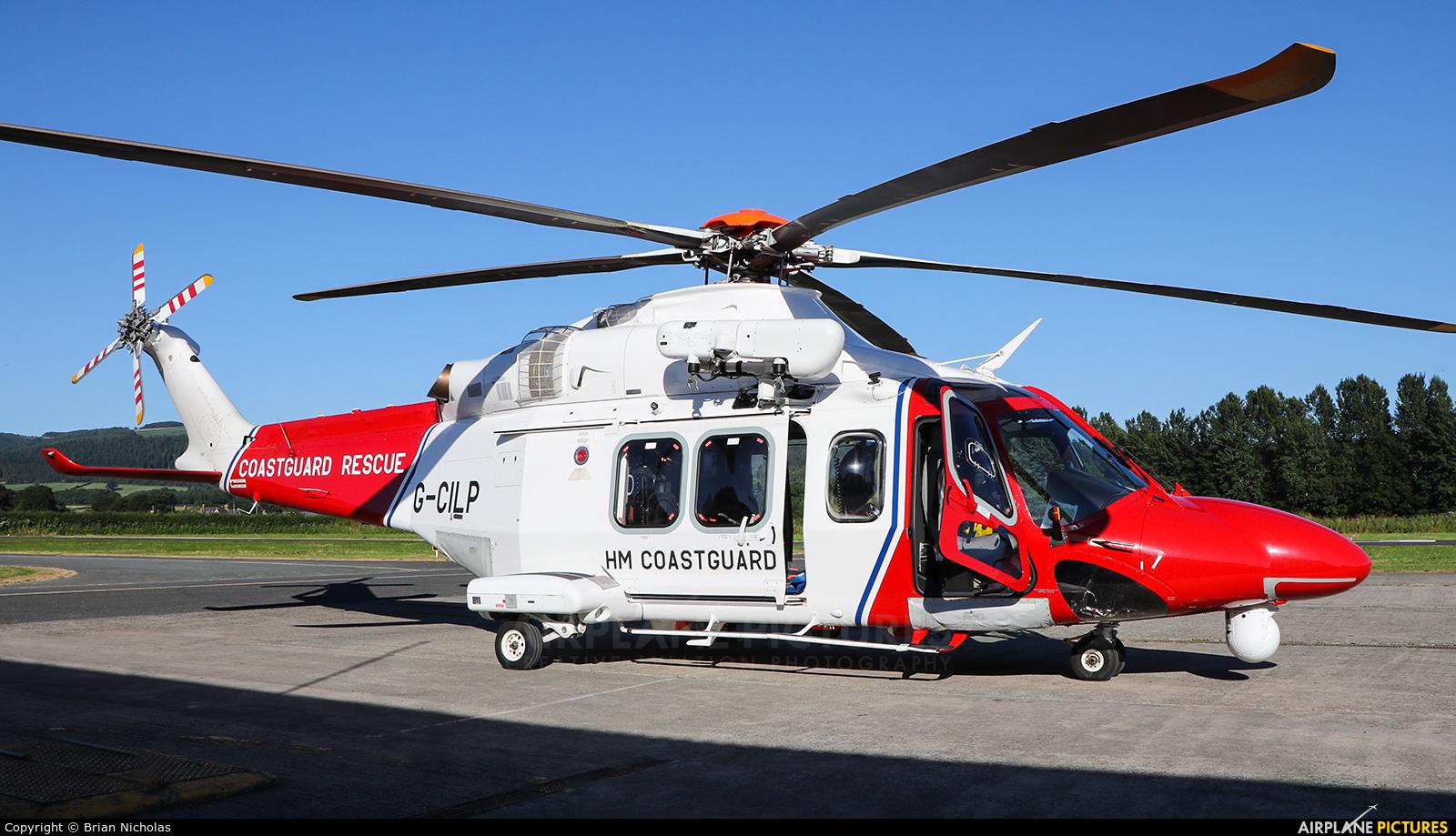 UK - Coastguard G-CILP aircraft at Welshpool