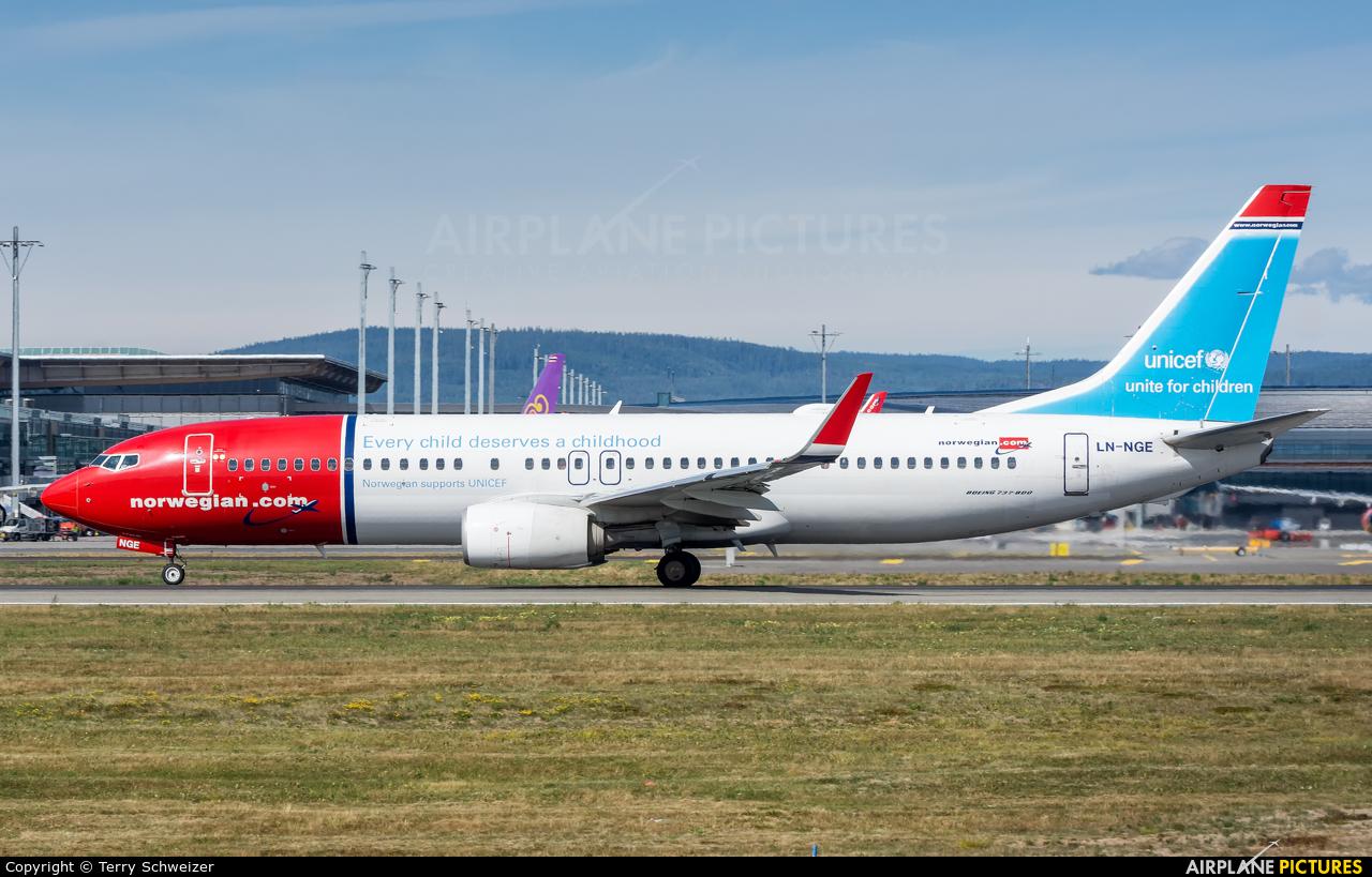 Norwegian Air Shuttle LN-NGE aircraft at Oslo - Gardermoen