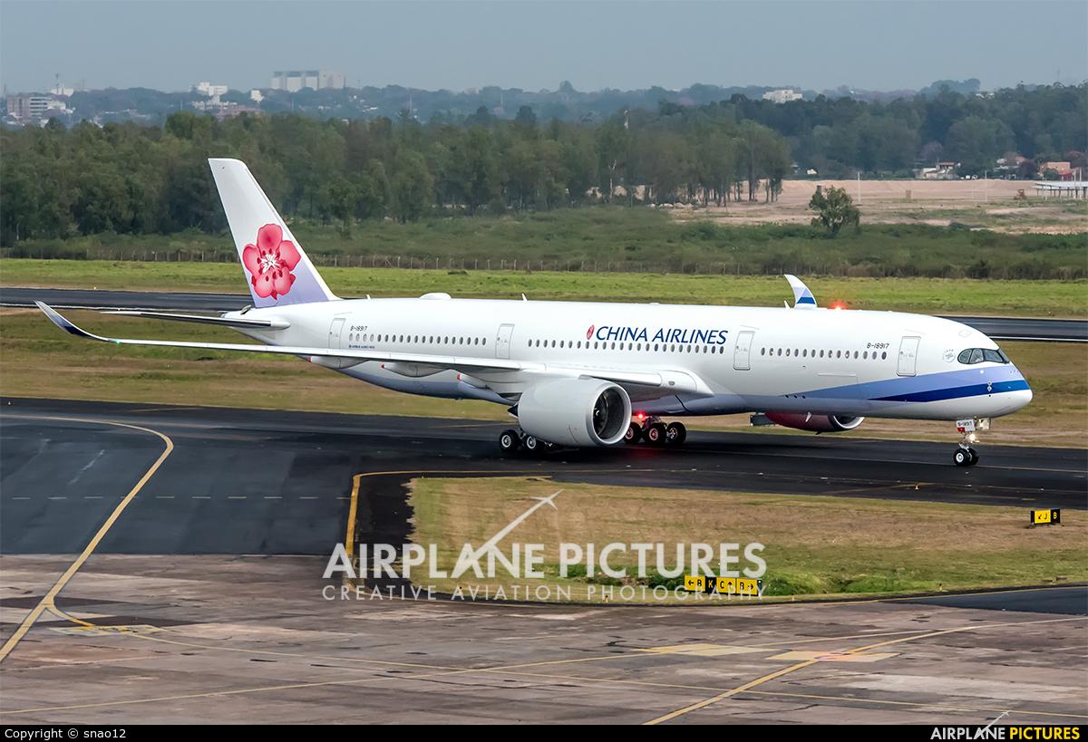 China Airlines B-18917 aircraft at Asuncion - Silvio Pettirossi Intl