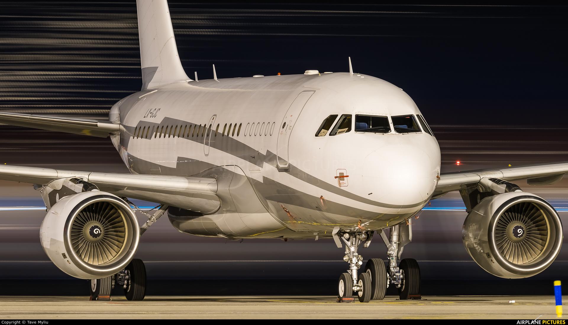 Global Jet Luxembourg LX-GJC aircraft at Tenerife Sur - Reina Sofia