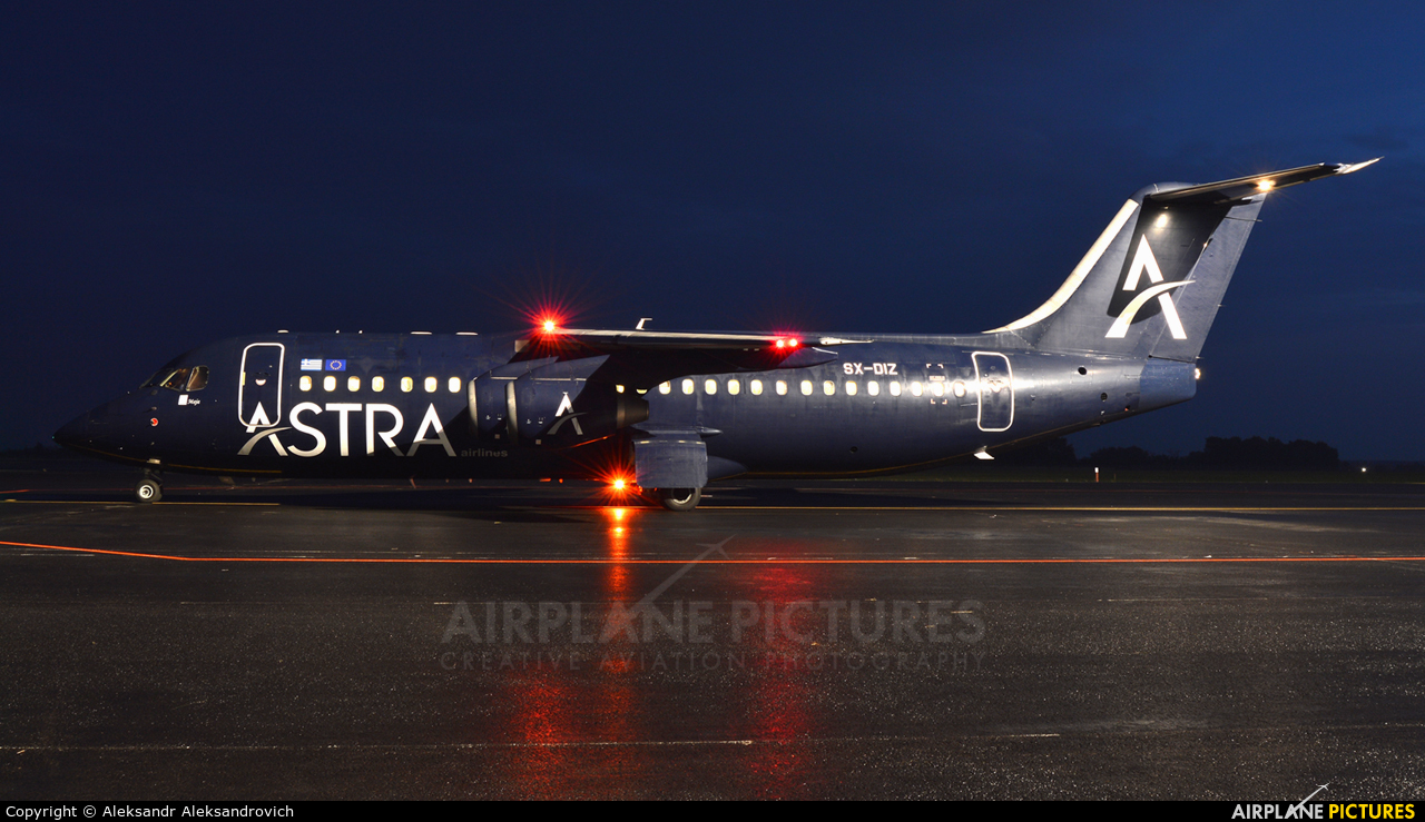 Astra Airlines SX-DIZ aircraft at Brest Airport