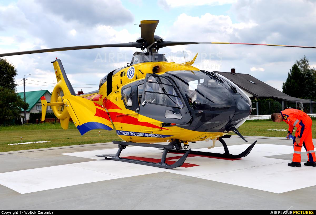 Polish Medical Air Rescue - Lotnicze Pogotowie Ratunkowe SP-HXZ aircraft at Siemiatycze Hospital