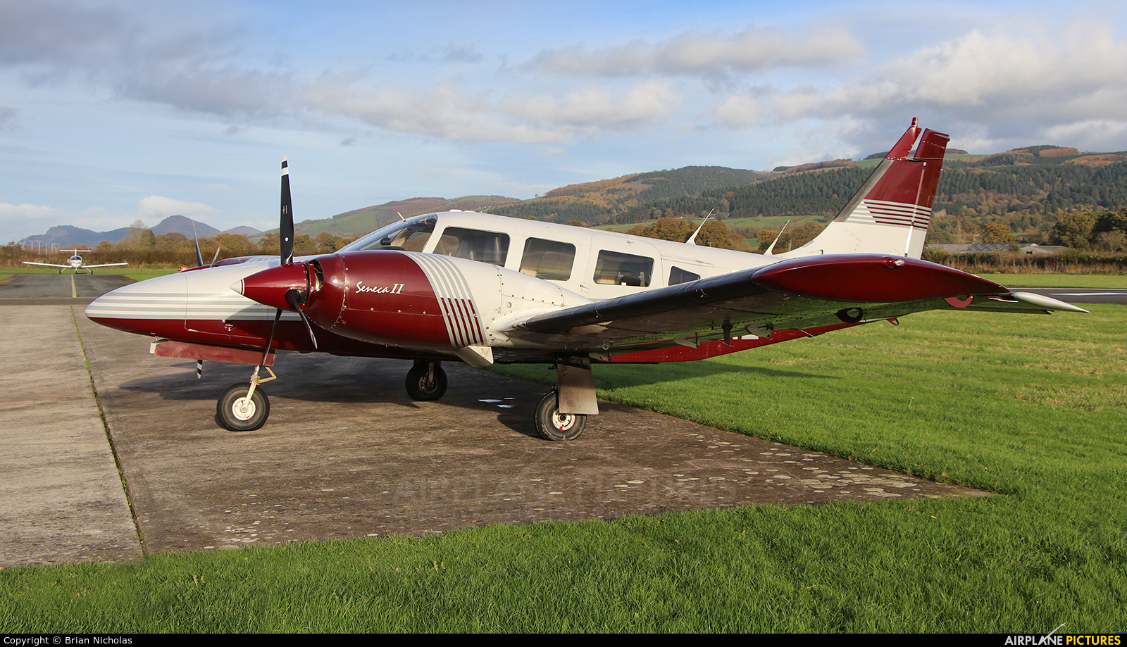 Private G-SENE aircraft at Welshpool