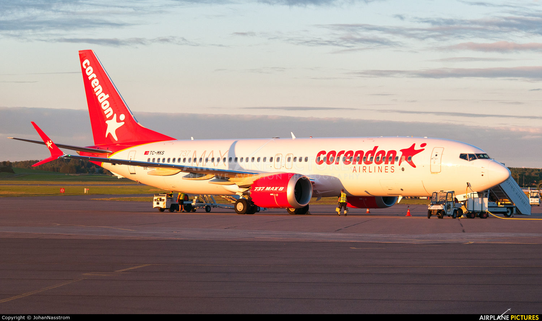 Corendon Airlines TC-MKS aircraft at Norrköping - Kungsängen